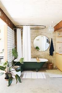 Rideaux Vert Sapin : inspiration d co salle de bain la baignoire sabot ~ Teatrodelosmanantiales.com Idées de Décoration