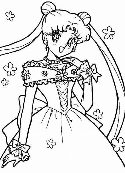 Sailor Coloring Moon Usagi Tsukino Pages Luna