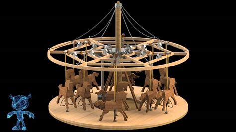 carousel wooden toy  model youtube