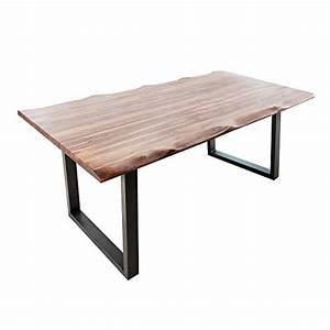 Tisch Mit Kufengestell : massiver baumstamm tisch genesis 200cm akazie massivholz baumkante esstisch mit kufengestell ~ Sanjose-hotels-ca.com Haus und Dekorationen