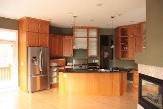 for kitchen cabinets reveal high end cook s kitchen cherry miele maple 4300