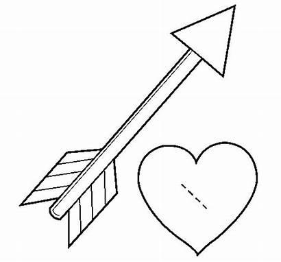 Arrow Heart Coloring Coloringcrew