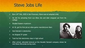 steve jobs powerpoint template - powerpoint presentation biography