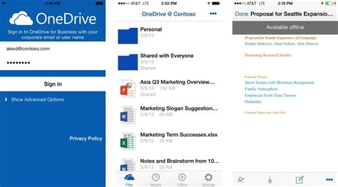 onedrive for android onedrive for business ya tiene soporte en android