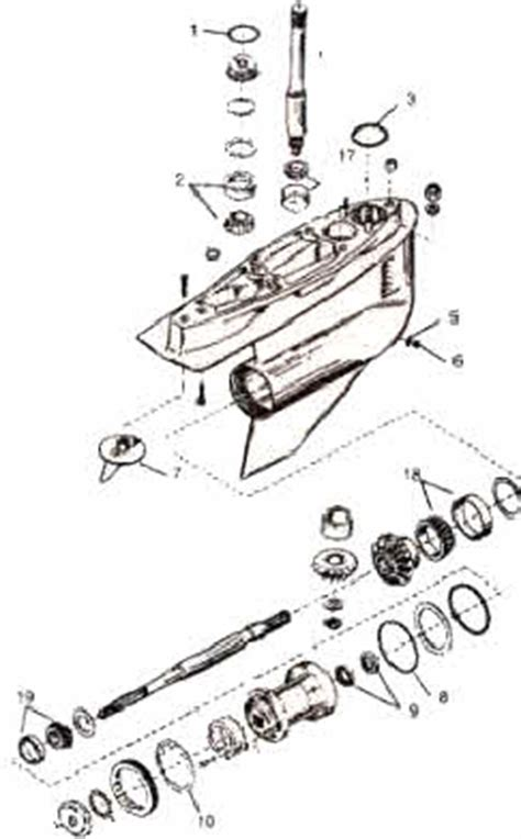 Mercruiser Lower Unit Diagram by Mercruiser Outdrive Parts Drawings How To