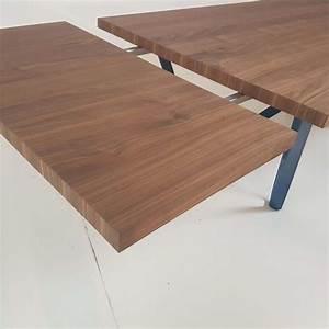 Table Bois Metal Avec Rallonge : table design extensible en m tal et bois wave 4 pieds tables chaises et tabourets ~ Melissatoandfro.com Idées de Décoration