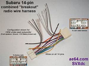 1987 Subaru Radio Wiring Harness