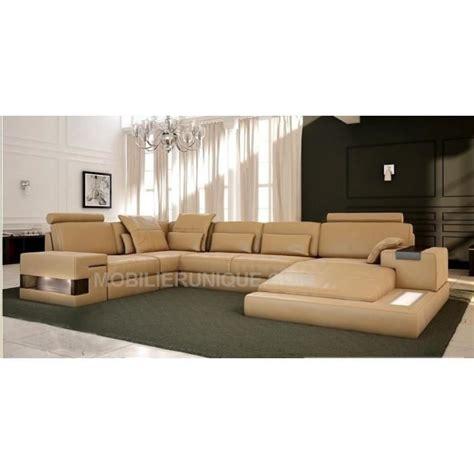 canap panoramique cuir center canapé d 39 angle panoramique design en cuir italien achat