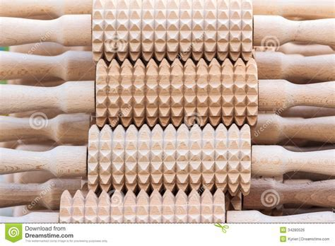 A Set Of Rolling Pins With Spikes Royalty Free Stock Image