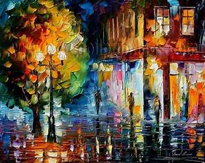 Modern impressionism palette knife oil painting kp115 ...
