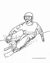 Coloring Pages Skiing Sports Printable Sheets Found Print Coloringpages101 sketch template