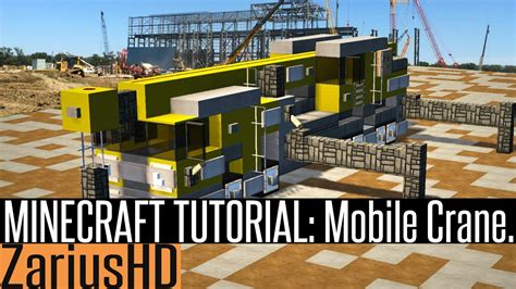 Minecraft Mobile by Minecraft Vehicle Tutorial How To Build Mobile Crane
