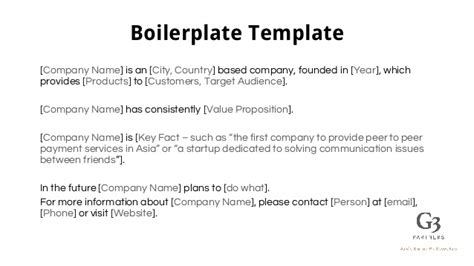 boilerplate template how to impress the press generate media coverage for your startup
