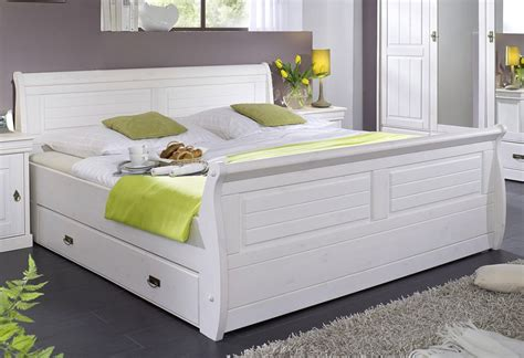 Massivholz Bett 180x200 Holzbett Mit Bettkasten Kiefer