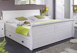 Massivholzbett Weiß 180x200 : massivholz bett 180x200 holzbett mit bettkasten kiefer massiv wei ~ Sanjose-hotels-ca.com Haus und Dekorationen