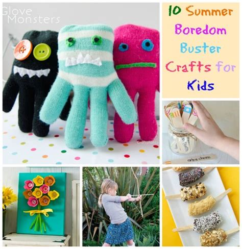 10 Summer Boredom Buster Crafts for Kids Craftfoxes