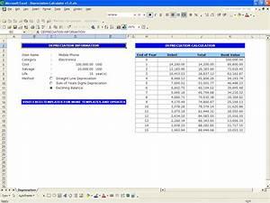 depreciation calculator excel templates With straight line depreciation template