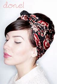 How to Wear a Bandana Scarf with Short Hair