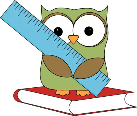 Book Clipart Resume by Owl Sitting On A Book With A Ruler Clip Owl Sitting On A Book With A Ruler Image
