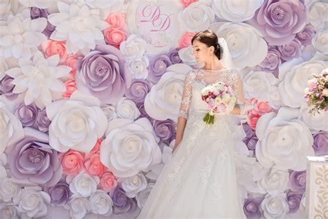 diy giant paper flower  dekorasi photobooth