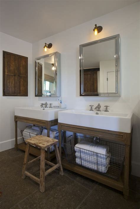Farm Style Bathroom Sink by The Large Sinks In This Bathroom Home Decor