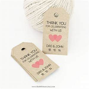 favor tag template printable small double heart design With how to print tags for favors