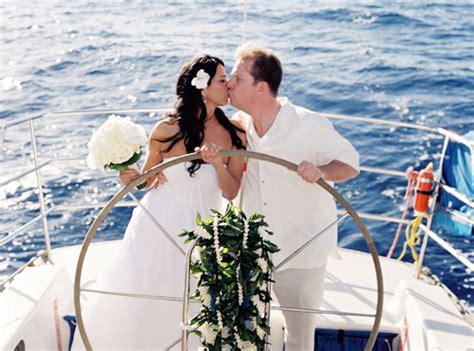 Maui, Hawaii Destination Wedding On A Boat