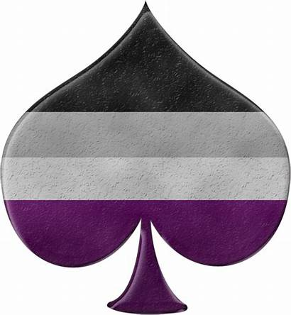 Asexual Pride Symbol Spade Flag Colors Lgbt