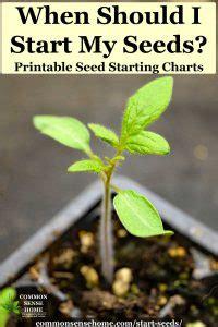 start seeds printable charts