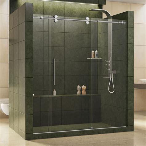 frameless sliding shower door dreamline enigma 68 in to 72 in x 79 in frameless
