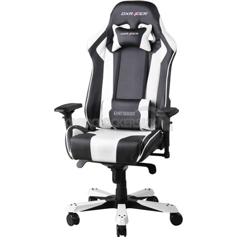 dxracer king series gaming chair black white oh kf06 nw