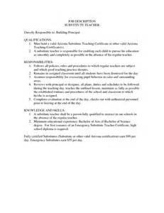 responsibilities of substitute for resume duties resume bestsellerbookdb