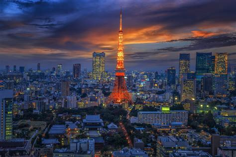 px city japan tokyo tokyo tower high quality