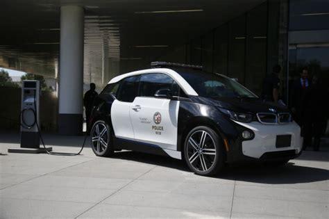 lapd  tesla model  bmw  electric cars  police