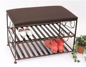 Schuhschränke Aus Metall : schuhregal mit sitzbank bank 70cm schuhbank schuhschrank aus metall schuhablage kaufen ~ Bigdaddyawards.com Haus und Dekorationen