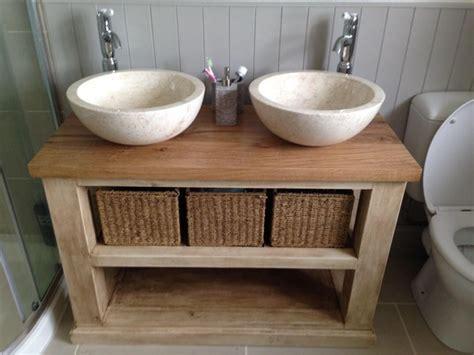 Rustic Bathroom Vanity Units by Handmade Solid Oak Bathroom Vanity Unit Washstand Rustic