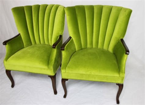 apple green channel back chairs transitional armchairs