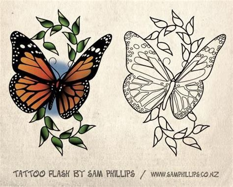 awesome color ink butterfly tattoo design  ink