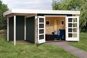 Gartenhaus Grau Mit Anbau : gartenhaus flachdach weka chill out gr e 3 new design ~ Articles-book.com Haus und Dekorationen