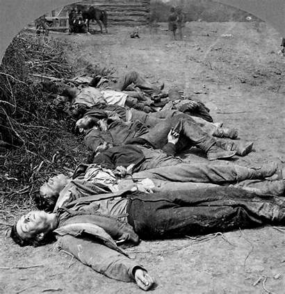 Dead Bodies Soldiers Confederate Battle Farm War