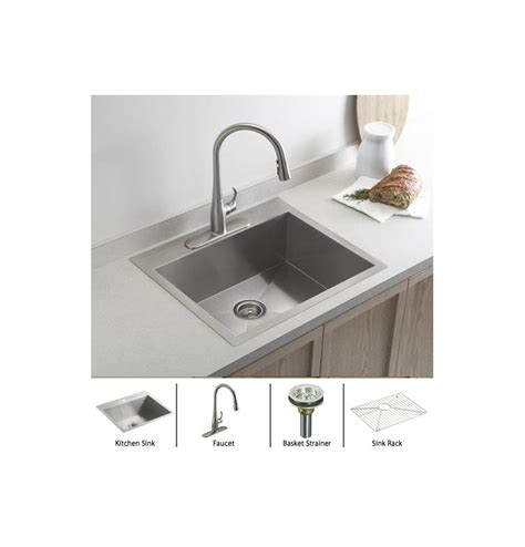 kohler stainless steel sink and faucet package faucet com vault k 3822 1 package vs in stainless sink
