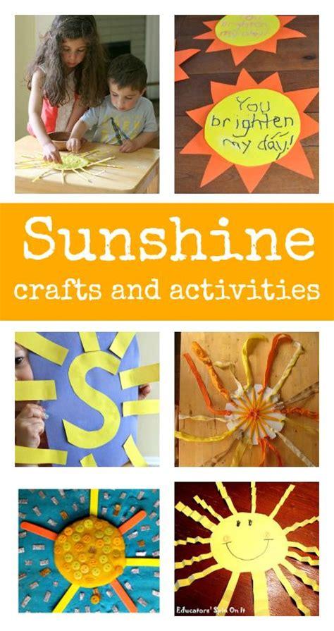 best 25 sun crafts ideas on 403   8485812a2107f9d367a51b419126f873 summer activities preschool sunshine activities