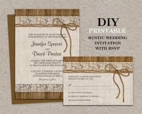 beachy wedding invitations rustic wedding invitation with rsvp card printable burlap