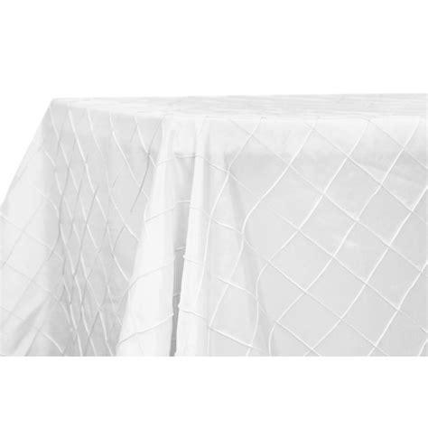 "Wholesale wedding PINTUCK 90x132"" rectangular tablecloth"