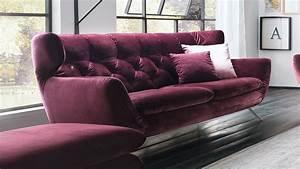 Möbel De Sofa : sofa sixty 2 5 sitzer bezug velour stoff purple gestell chrom 200 cm ~ Eleganceandgraceweddings.com Haus und Dekorationen