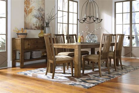 light colored dining room sets birnalla by ashley collection