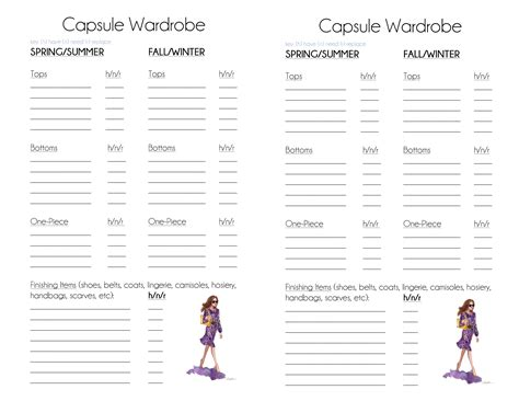 Capsule Wardrobe Planner tsll planner building a simply luxurious 2016 the