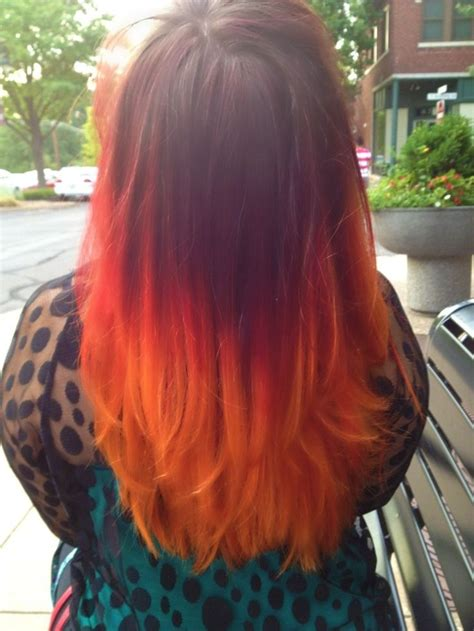 Fire And Flame Colored Hair Organic Hair Colors 2015
