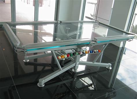 best pool tables in the world world 39 s first ever clear pool table gadgetgrid