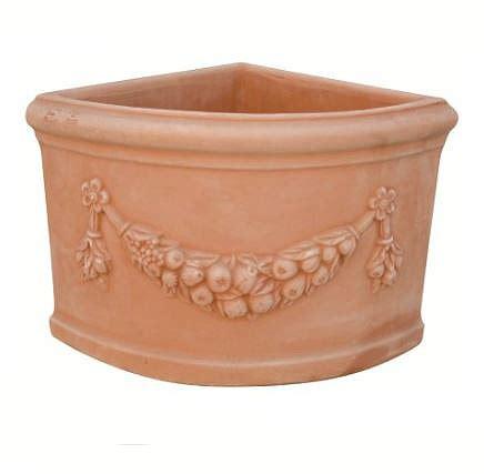 vaso terracotta prezzo vaso ad angolo festonato in terracotta t24255 mr t24251 mr